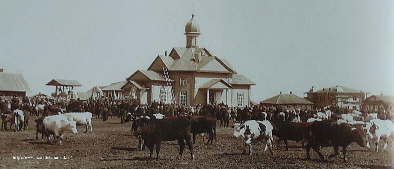 Георгиевская церковь на бывшей Красной площади. Снимок 1910-1914 гг. Фотограф П.Молчанов.