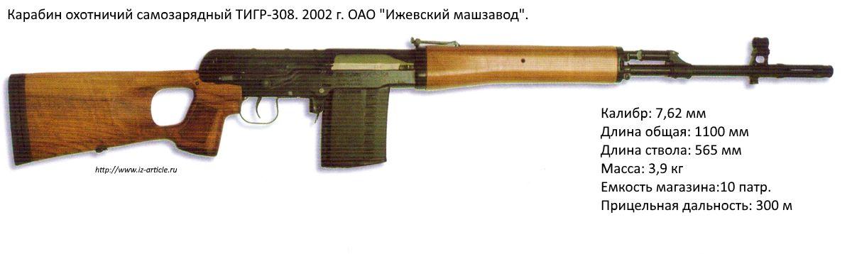 Карабин охотничий самозарядный ТИГР-308. 2002 г. ОАО Ижевский МАШЗАВОД