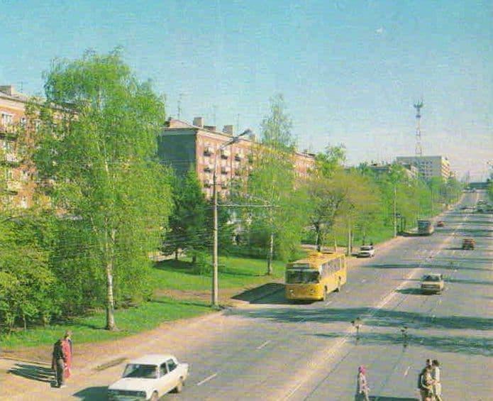 Пушкинская ул. Ижевск. 80-е годы.