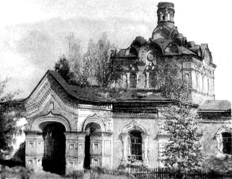 Разрушенный храм в Сюрсовай, Шарканский район.