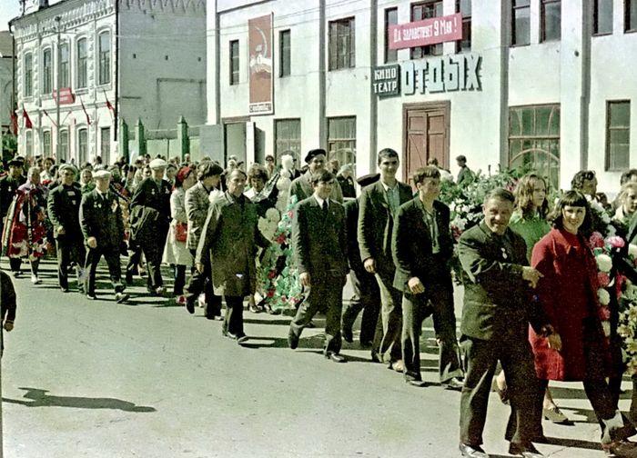 Демонстрация трудящихся. Сарапул