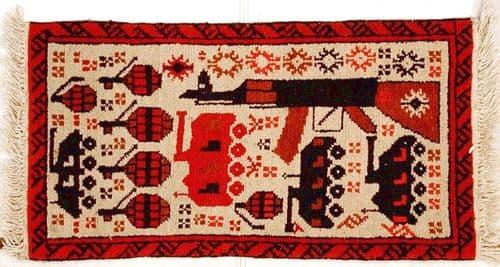 В Афганистане, образ автомата вышивают на ковриках