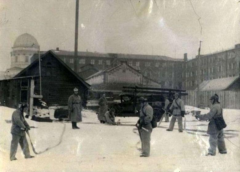 Отряд Ижевской Пожарной охраны, 1930-е Фото ЦГА УР.
