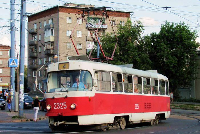 Трамвай №4. Дом Ленина 8. Ижевск.