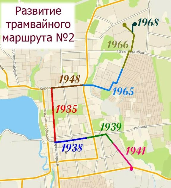 Развитие линий трамвайного маршрута №2. Ижевск.