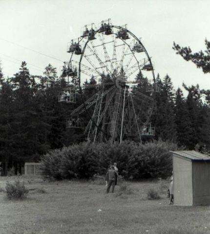 Колесо обозрения в парке Кирова, вторая половина 60-х годов. Ижевск.