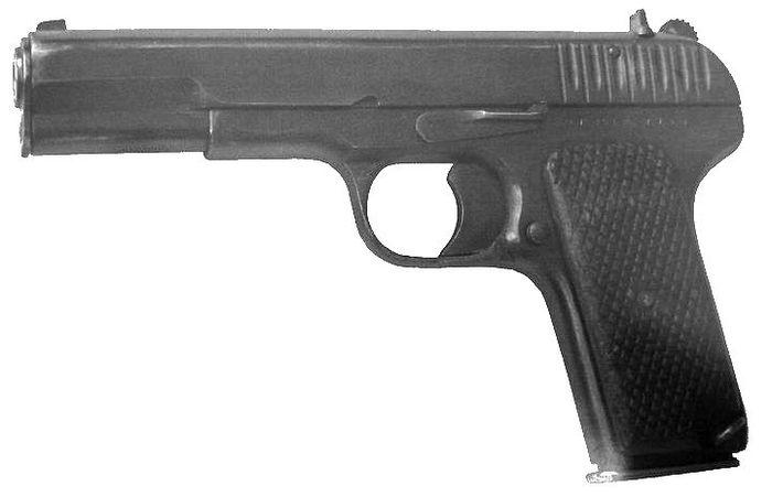 Пистолет ТТ. Разработки советского конструктора оружейника Ф.В.Токарева.