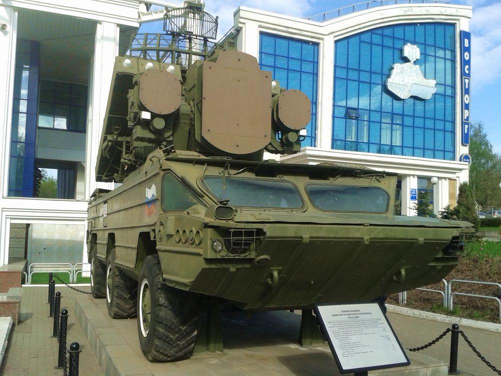 Монумент ЗРК Оса-АКМ открыт  5 мая 2005 года к 60-летию Победы у ИЭМЗ Купол. Фото 2020 г. ДВА.