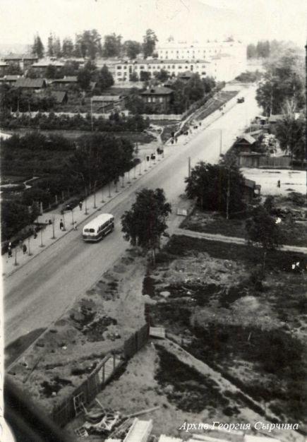 Улица Советская, 1955 год. Архив Г.Сырчина. Ижевск.