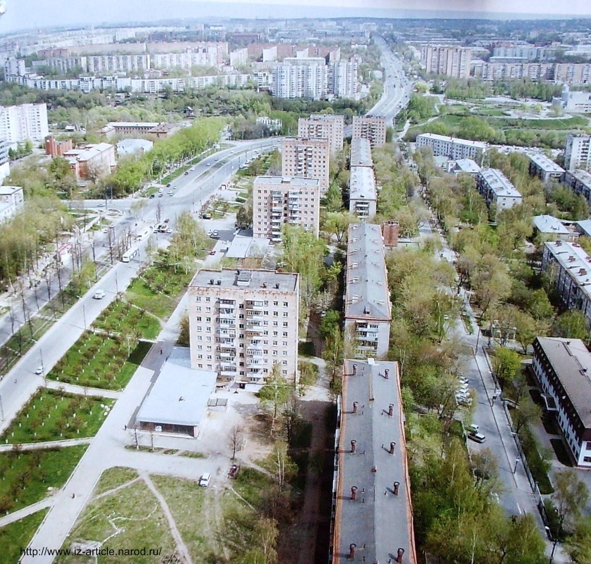 Улица Кирова Ижевск. Вид сверху.