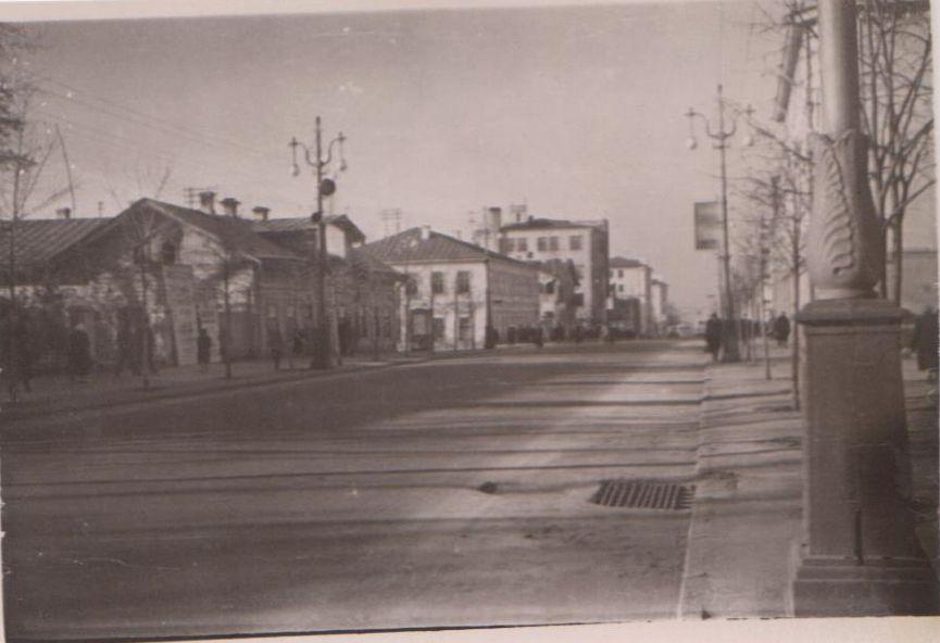 Улица Советская. Ижевск. 60-е годы.
