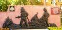 Памятник стела пожарным и спасателям в Ижевске. м