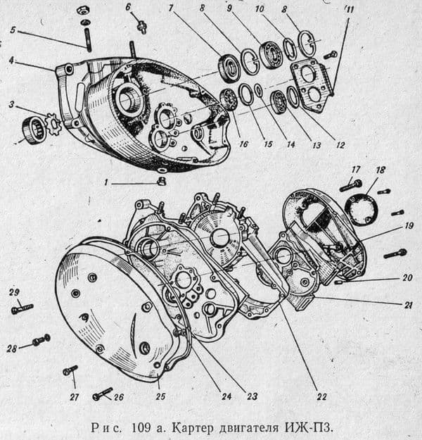 Картер двигателя ИЖ-Планета3