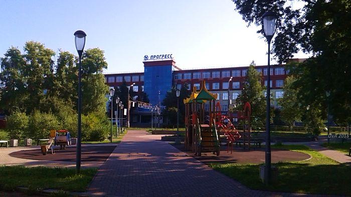 Вишневый сквер на пересечении улиц Пушкинская и Кирова. Ижевск.