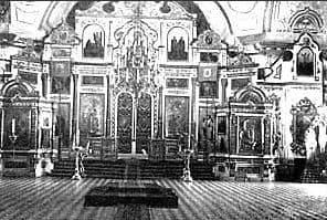 Внутреннее убранство Александро-Невского собора Ижевского завода. 1929 г.