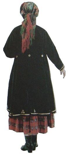 Верхняя одежда. Южные удмурты. Елабужский уезд. начало XX век. Удмуртская народная одежда.