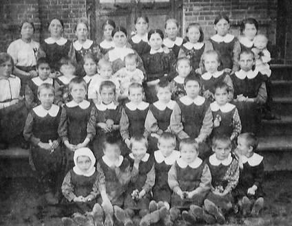 Воспитанники Ольгинского детского приюта.