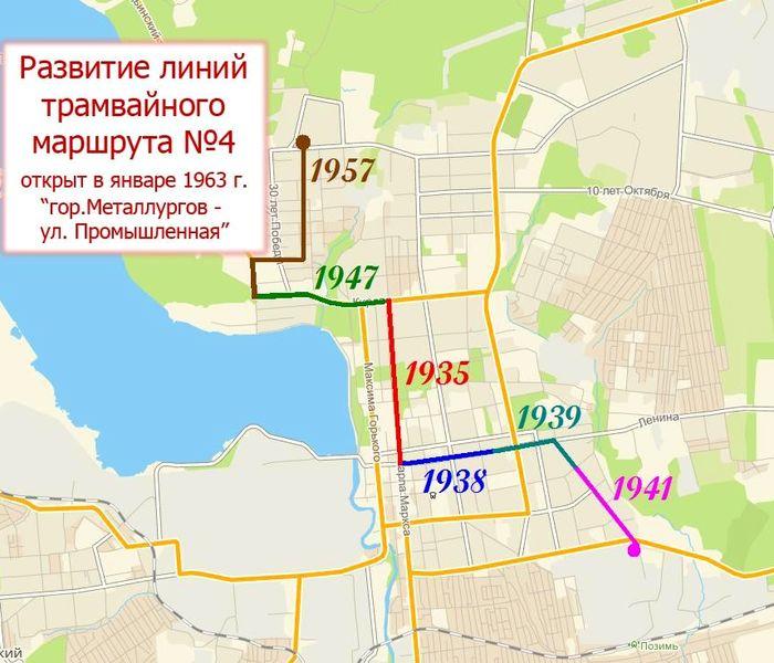 Развитие линий трамвайного маршрута №4. Ижевск.