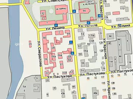 Свердлова 22 Ижевск. Карта.