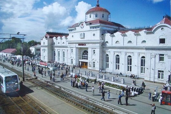 Ижевский железнодорожный пригородный вокзал.