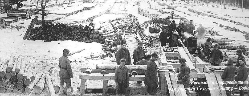 Распиловка торцевой шашки для участка Селычка - Якшур-Бодья.
