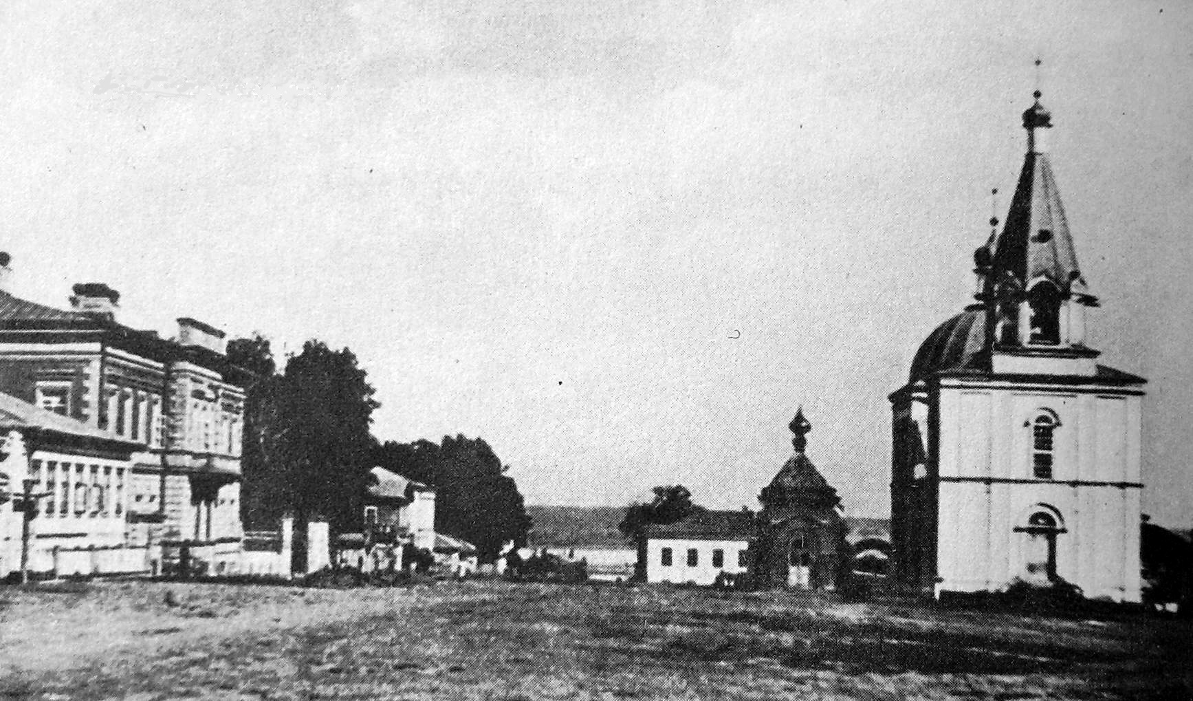 Базарная площадь. Конец XIX в г. Сарапул.